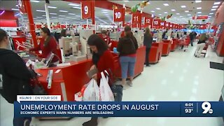 Unemployment rate drops in August
