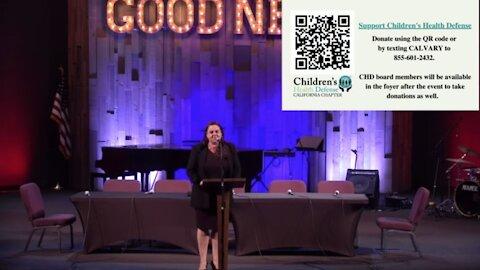 (Jessica Barsotti, Barsotti Law) Medical Freedom Information, Calvary Chapel, July 24, 2021