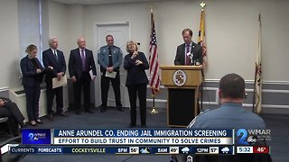 Anne Arundel County ending jail immigration screening contract