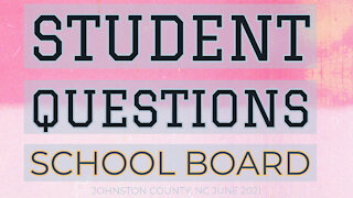 Student Questions Johnston County School Board About Mask Hypocrisy