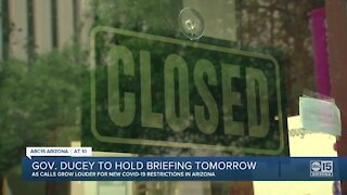 Governor Ducey to hold press briefing Wednesday