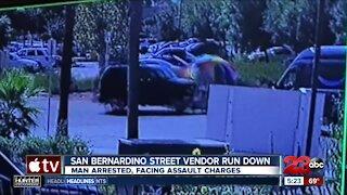 Caught on Camera: San Bernardino street vendor run down