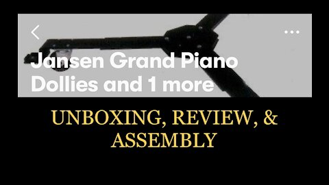 Jansen Grand Piano Dolly Unboxing