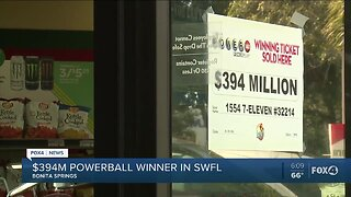 Winner of Powerball in Bonita Springs