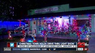 Christmas Town holds drive-thru light show