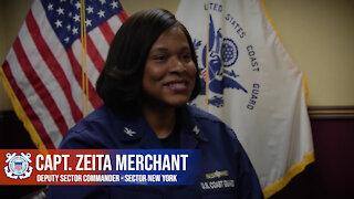 Capt. Zeita Merchant speaks on Black History Month