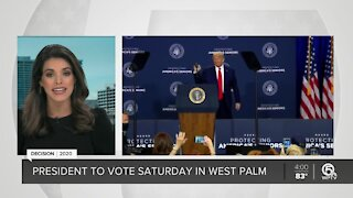 President Donald Trump holds campaign rally in The Villages
