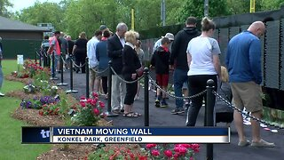 Emotions pour out at replica of Vietnam Wall