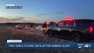 2 girls found safe in Oklahoma; suspect detained