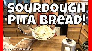 EASY Sourdough Start to Finish | Sourdough Pita Bread