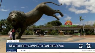 New exhibits coming to SD Zoo