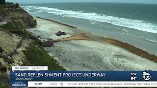 Sand replenishment project underway in Solana Beach