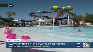 Some city pools opening to the public for Memorial Day weekend
