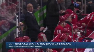 NHLPA approves 24-team playoff, effectively ending Red Wings season