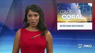 City of Cape Coral rescinds burn ban