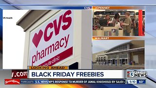 Freebies at stores before Black Friday