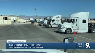 Trucking industry booming during pandemic