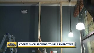 Cleveland coffee shop reopens today after a hit and run
