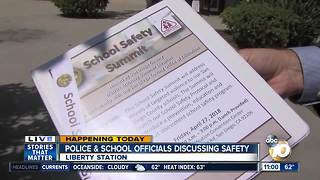 School officials and police talk safety