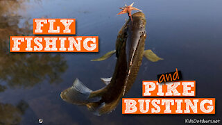 S1:E14 First Fly Fishing Catch and our Northern Pike Hotspot | Kids Outdoors
