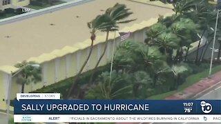 Sally upgraded to hurricane