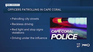 Cape Coral Police Department conducting high visibility traffic enforcement operation today