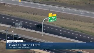 C-470 Express Lanes to start charging this month