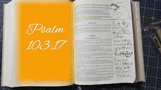 Psalm 103:17 Bible Journaling