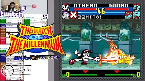 (NeoGeo Pocket Color) SNK vs. Capcom MotM - 30 - Team Mode - SNK Heroines - Lv Gamer
