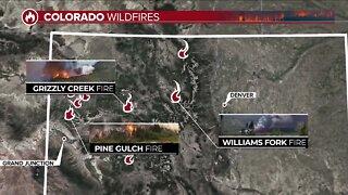 Wildfires continue to burn across Colorado