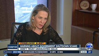 Warning about government shutdown scams