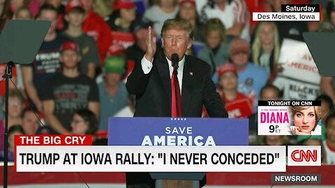 Trump about Mitch McConnell at Iowa rally