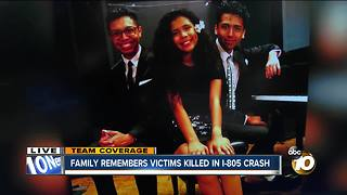Family remembers victims killed in I-805 crash