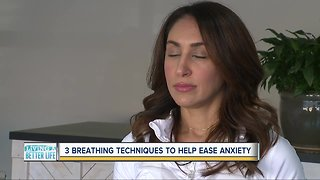 Breathing techniques to help ease anxiety