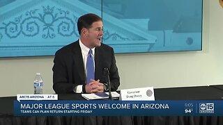 Major league sports welcome in Arizona