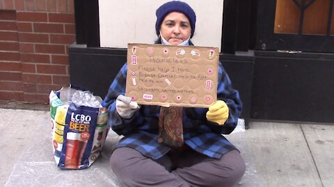 Social experiment: Would you help a homeless woman with breast cancer?