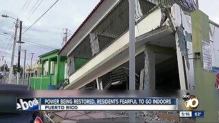 Power being restored after Puerto Rico earthquake