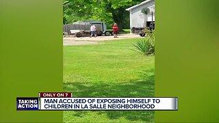 Man accused of exposing himself to children in LaSalle neighborhood