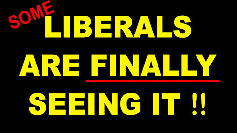 ( SOME ) LIBERALS ARE FINALLY SEEING IT !! - 7 min.