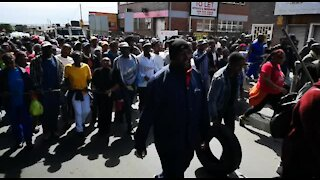 SOUTH AFRICA - Johannesburg - Alexandra residents march to Sandton (videos) (KFE)