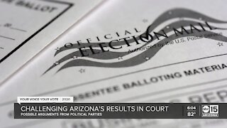 Political parties may challenge Arizona election results in court