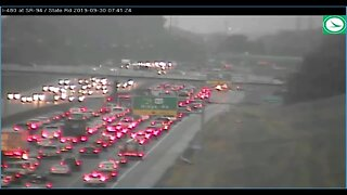 Heavy delays remain after crash on I-480 WB