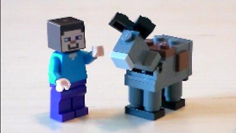 Lego Minecraft Donkey Tutorial