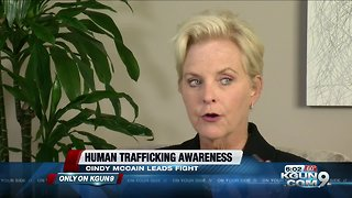 Cindy McCain fighting human trafficking