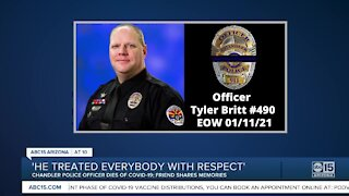 Remembering Chandler Police Officer Tyler Britt, who passed away after contracting COVID-19