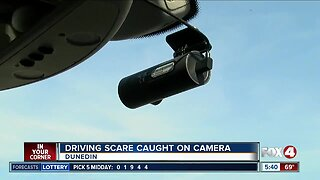 Driving scare caught on camera