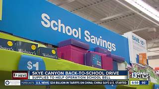 Skye Canyon host back-to-school supplies drive for operation school bell