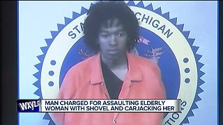 Man charged for assaulting woman with shovel, carjacking her in Detroit
