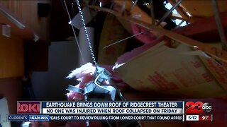 Ridgecrest earthquake brings down roof of theater