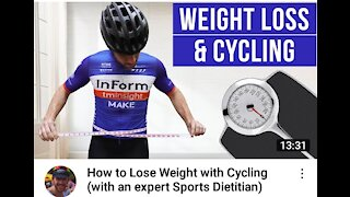 Losing weight by cycling
